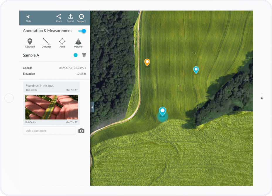 ipad agriculture annotations